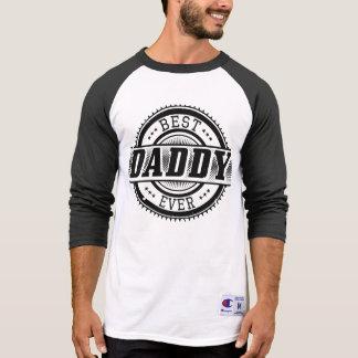 El mejor papá siempre 3/4 camiseta del raglán de