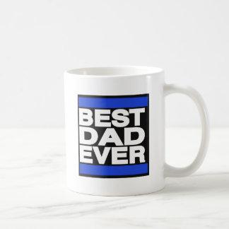 El mejor papá siempre azul taza