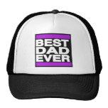 El mejor papá siempre púrpura gorro