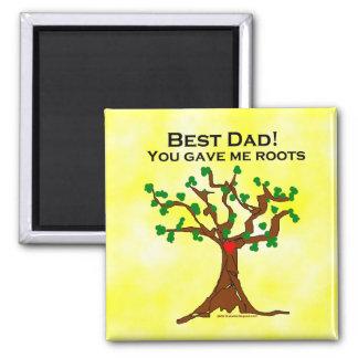 El mejor papá usted me dio raíces iman para frigorífico