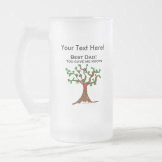 El mejor papá usted me dio raíces taza cristal mate