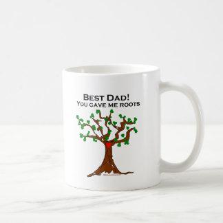 El mejor papá usted me dio raíces taza básica blanca