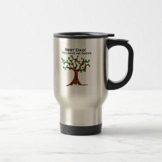El mejor papá usted me dio raíces taza de café