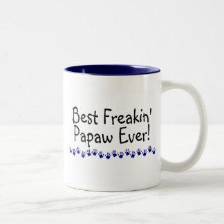 El mejor Papaw de Freakin nunca Taza