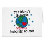 El mejor Papou pertenece a mí Tarjeton