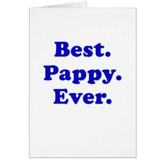 El mejor Pappy nunca Tarjeta De Felicitación