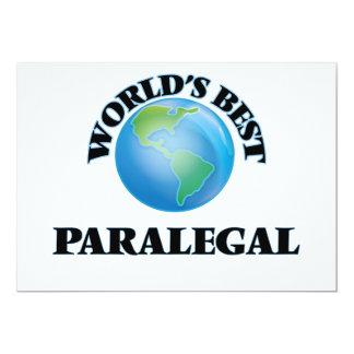 """El mejor Paralegal del mundo Invitación 5"""" X 7"""""""