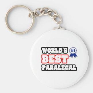 El mejor Paralegal del mundo Llavero Redondo Tipo Pin