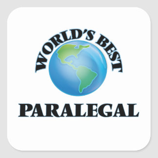 El mejor Paralegal del mundo Pegatina Cuadrada