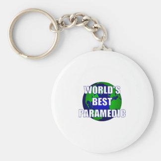 El mejor paramédico del mundo llavero redondo tipo pin