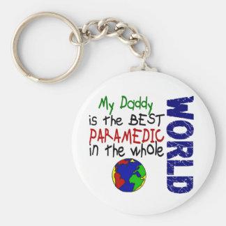El mejor paramédico en el mundo 2 (papá) llavero redondo tipo pin