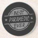 El mejor paramédico siempre gris posavasos diseño
