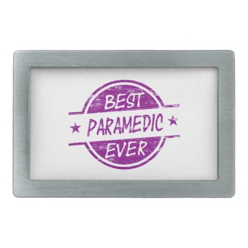 El mejor paramédico siempre púrpura hebilla de cinturon