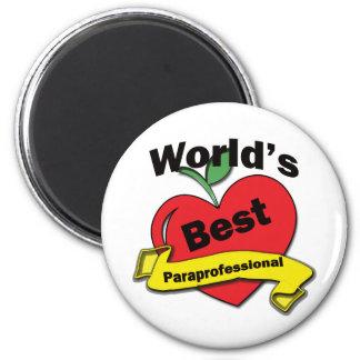 El mejor Paraprofessional del mundo Imán Redondo 5 Cm