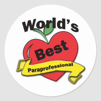 El mejor Paraprofessional del mundo Pegatina Redonda