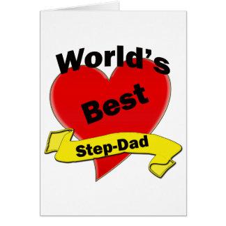 El mejor Paso-Papá del mundo Tarjeta De Felicitación