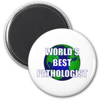 El mejor patólogo del mundo imán redondo 5 cm