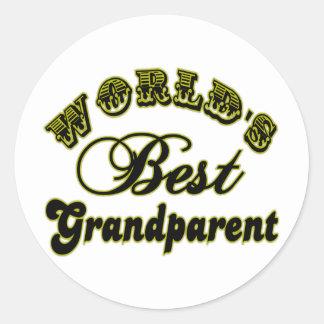 El mejor pegatina del abuelo del mundo