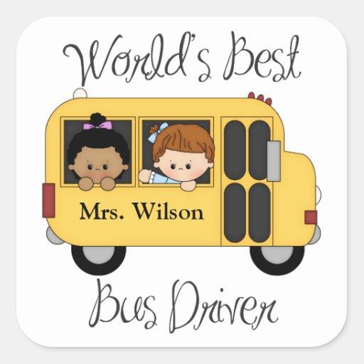 El mejor pegatina del conductor del autobús de los