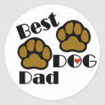 El mejor pegatina del papá del perro