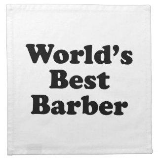 El mejor peluquero del mundo servilletas imprimidas