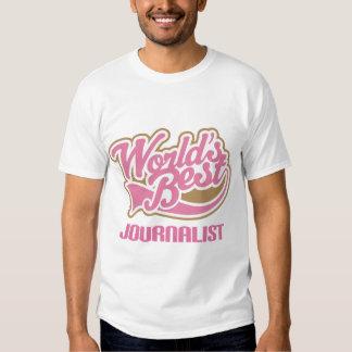 El mejor periodista de los mundos rosados lindos camisas