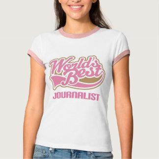 El mejor periodista de los mundos rosados lindos playera