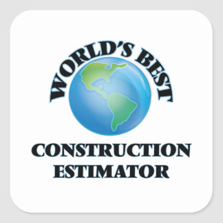 El mejor perito de la construcción del mundo pegatina cuadrada