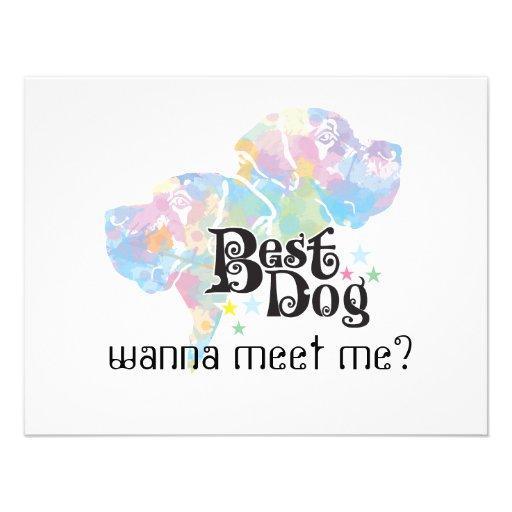"""El mejor perro """"coloreado """" comunicados personalizados"""
