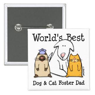 El mejor perro del mundo y botón adoptivo del papá pin
