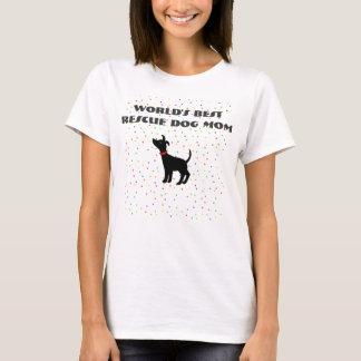 El mejor perro del refugio de la camiseta de la