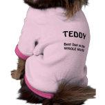 El mejor perro en el mundo entero camisa de perro