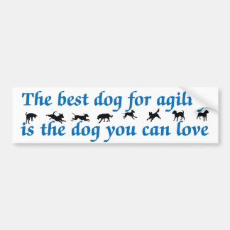 El mejor perro para la agilidad pegatina para auto