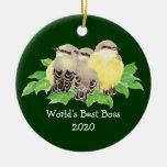 El mejor personalizado de Boss del mundo fechó el Ornamentos De Reyes Magos