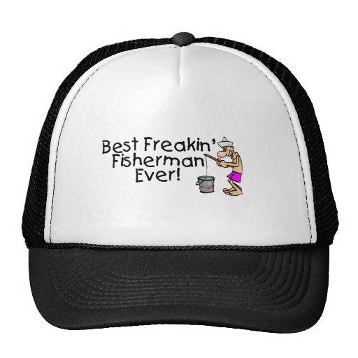 El mejor pescador de Freakin nunca Gorro