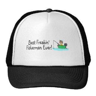 El mejor pescador de Freakin nunca Gorro De Camionero