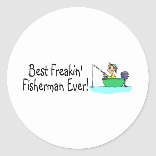 El mejor pescador de Freakin nunca Pegatinas