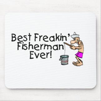 El mejor pescador de Freakin nunca Tapete De Raton