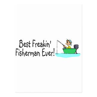 El mejor pescador de Freakin nunca Tarjetas Postales