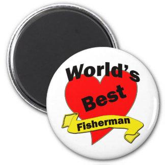 El mejor pescador del mundo imán redondo 5 cm
