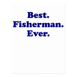 El mejor pescador nunca postal