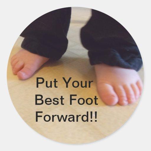 El mejor pie remite a los pegatinas pegatinas redondas