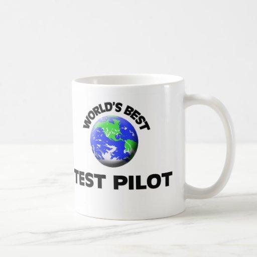 El mejor piloto de la prueba del mundo taza básica blanca