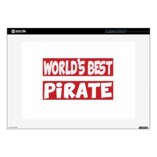 El mejor pirata del mundo calcomanía para 38,1cm portátil