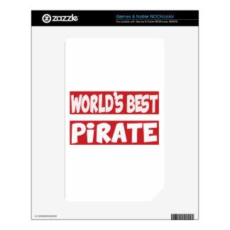 El mejor pirata del mundo calcomanía para NOOK color