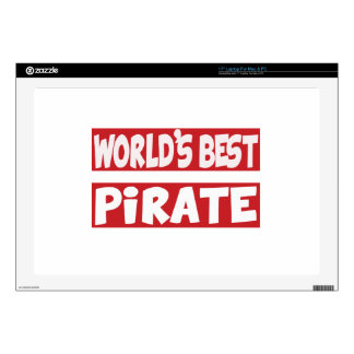 El mejor pirata del mundo calcomanías para portátiles