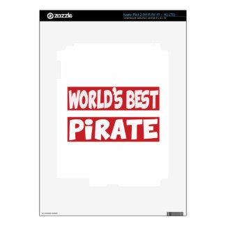 El mejor pirata del mundo pegatinas skins para iPad 3