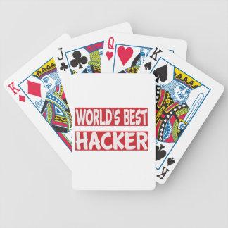 El mejor pirata informático del mundo baraja de cartas