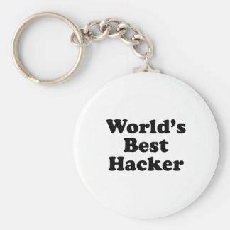 El mejor pirata informático del mundo llavero personalizado