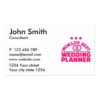 El mejor planificador del boda del mundo tarjetas de visita